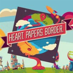 Cover Heart. Papers. Border.