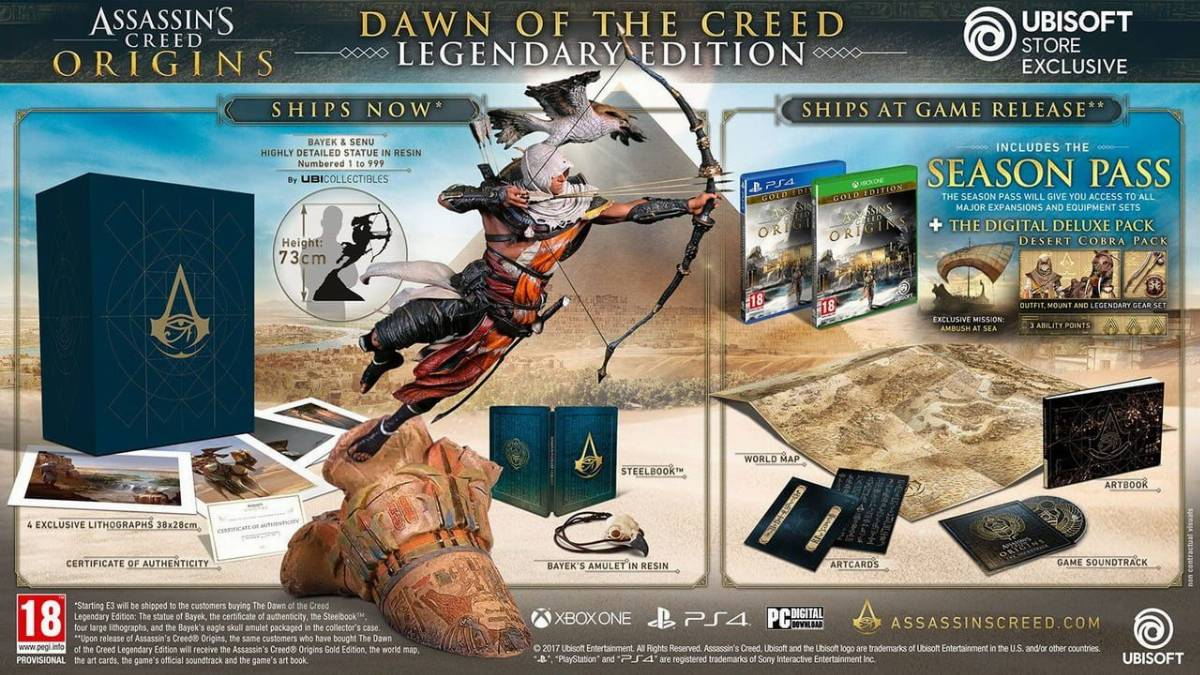 Assassin's Creed: Origins – Dawn of the Creed Legendary Edition
